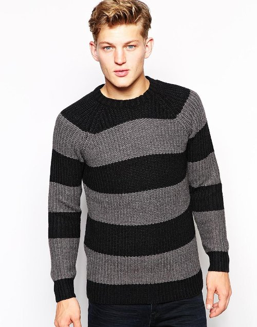 Striped Chunky Sweater by Brave Soul in If I Stay