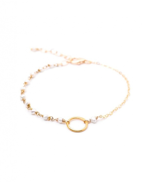 White Pearl Vermeil Bracelet by Les Précieuses in Pretty Little Liars - Season 6 Episode 8