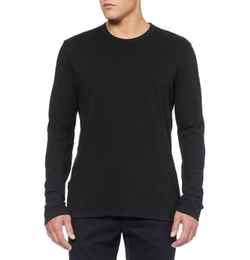 Long-Sleeved Cotton-Jersey T-Shirt by James Perse in Daddy's Home