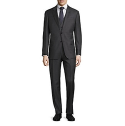 Windowpane Three Piece Suit by Armani Collezioni in Billions