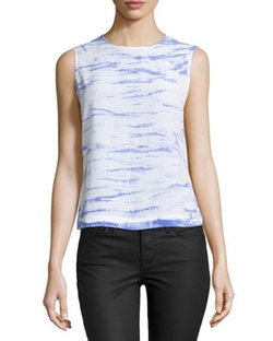 Reagan Tie-Dye Sleeveless Blouse by Equipment in Chelsea