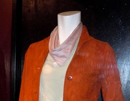 Custom Made Scarf by Jeffrey Kurland (Costume Designer) and Mary Ellen Fields (Tailor) in Inception