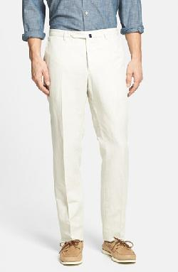 'Benn' Linen & Cotton Trousers by Incotex in The Wolf of Wall Street