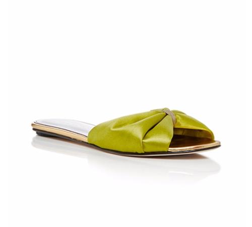 Mia Satin Slide Sandals by Oscar De La Renta in Animal Kingdom - Season 1 Episode 1