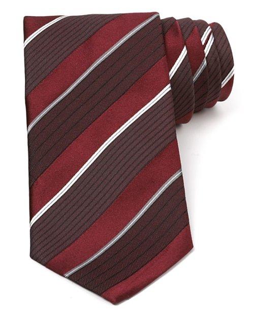Variegated Stripe Classic Tie by Armani Collezioni in Hot Pursuit