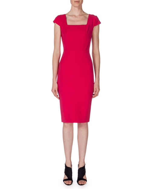 Jeddler Cap-Sleeve Sheath Dress by Roland Mouret in Arrow