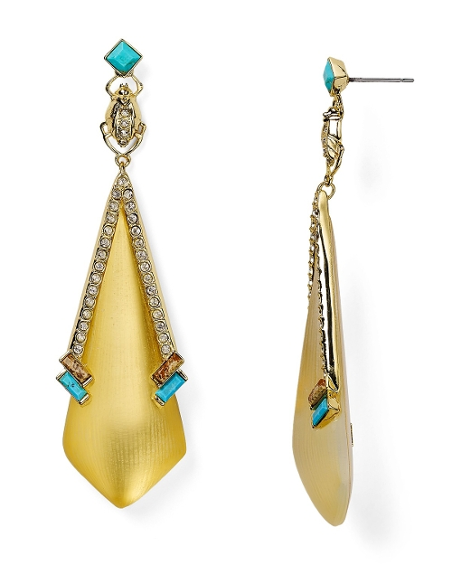 Lucite Dangling Beetle Drop Earrings by Alexis Bittar in Dope