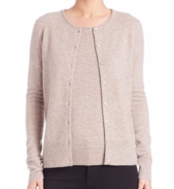 Cashmere Button-Front Cardigan by Saks Fifth Avenue Collection in Suits