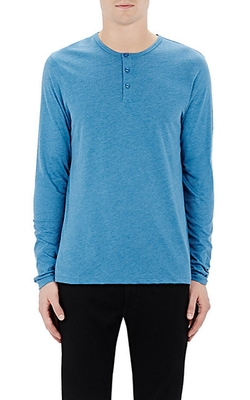 Jersey Henley Shirt by Barneys New York in Mad Dogs