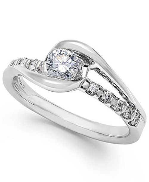 Diamond Cluster Engagement Ring by Sirena in The Best of Me