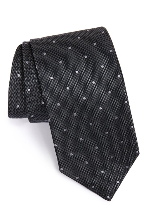 Dot & Houndstooth Silk Tie by Boss in Side Effects