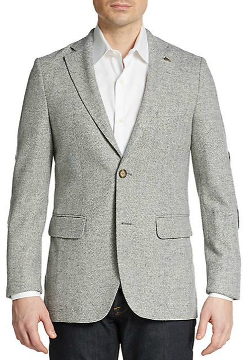 Herringbone Wool Sportcoat by Gant in Master of None - Season 1 Episode 5