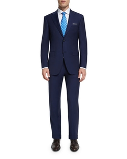 Sienna Contemporary-Fit Solid Two-Piece Travel Suit by Canali in Supernatural