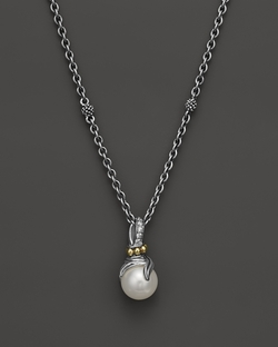 Pearl Twist Pendant Necklace by Bloomingdale's in Burnt