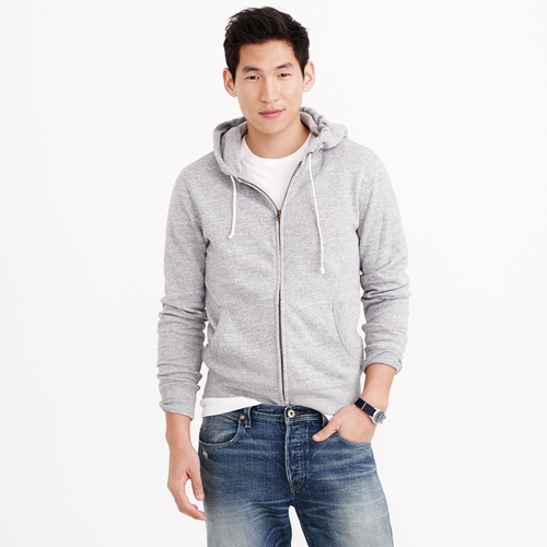 Slim Brushed Fleece Zip Hoodie by J. Crew in Ride Along 2