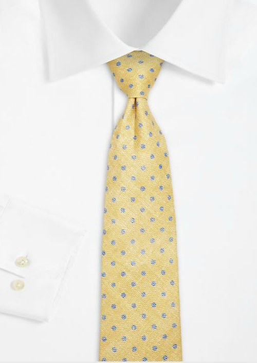 Faded Dot Linen Tie by Isaia in Suits - Season 5 Episode 3