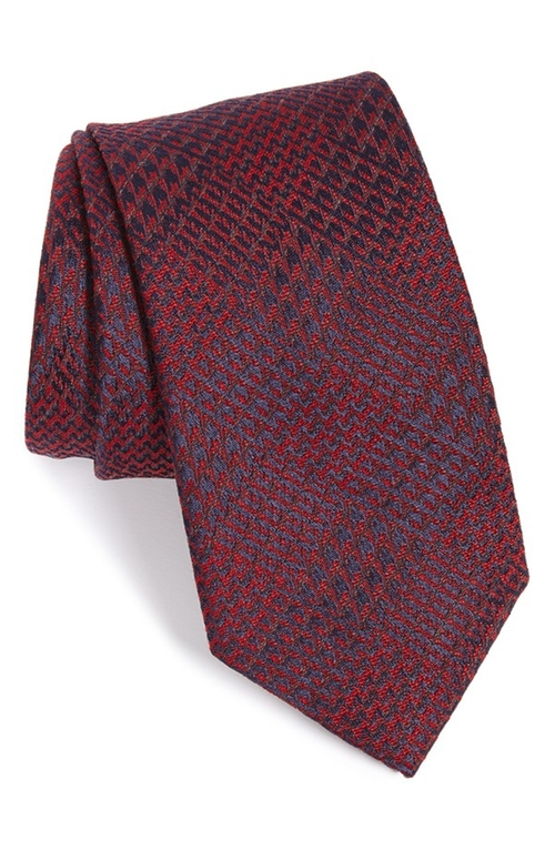 Plaid Silk & Wool Tie by Brioni in The Good Wife - Season 7 Episode 7