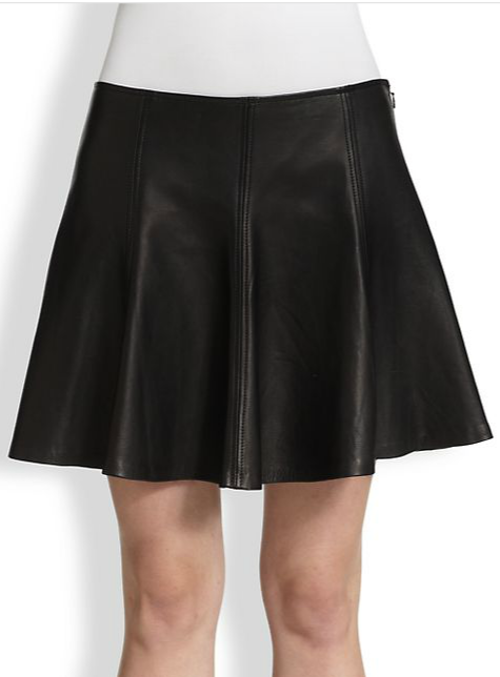 Leather Skater Skirt by Polo Ralph Lauren in The Wolverine