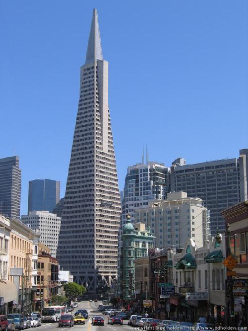 Transamerica Pyramid San Francisco, California in Transcendence
