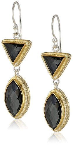 """Gili Hematite"" Double Drop Earrings by Anna Beck Designs in The Second Best Exotic Marigold Hotel"