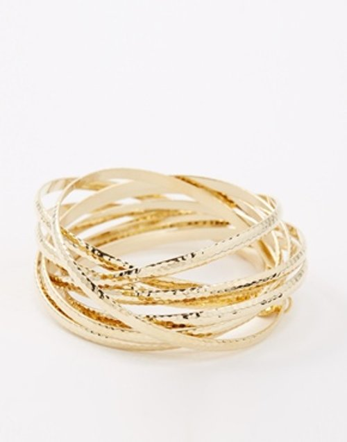 Hammered Bangle Set by Nali in Silver Linings Playbook