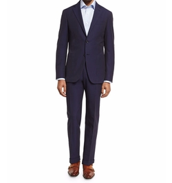 Seersucker Cotton Two-Piece Suit by Canali in Suits
