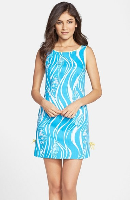 'Delia' Print Bow Detail Shift Dress by Lilly Pulitzer in The Longest Ride