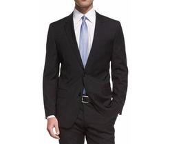 Huge Genius Slim-Fit Basic Suit by Boss in Black Panther