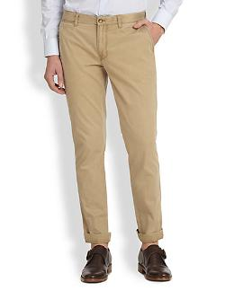 Chaze Slim-Fit Cotton Pants by J. Lindeberg in And So It Goes