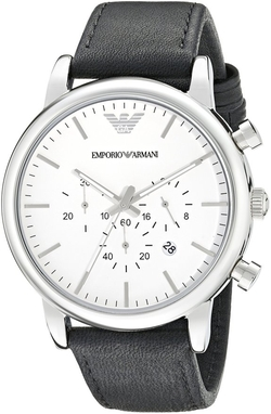Men's Classic Analog Display Watch by Emporio Armani in Fifty Shades of Black