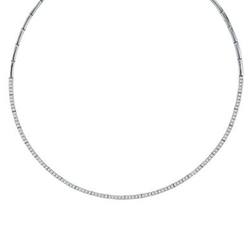 Diamond Tennis Choker Necklace by TheJewelryMaster in Mariah's World
