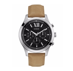 Chronograph Leather Strap Watch by Guess in Ballers