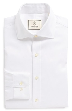 White Label Trim Fit Solid Dress Shirt by Todd Snyder in Bridge of Spies