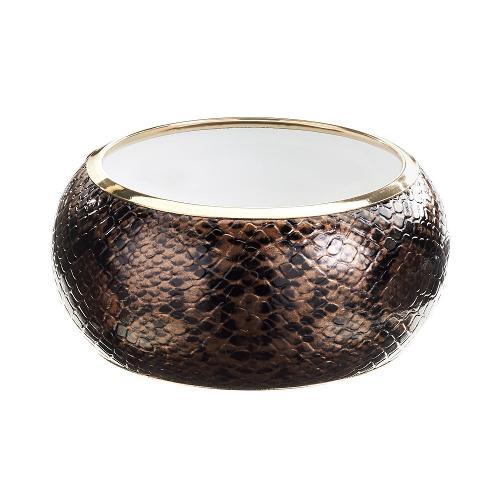 Gold Tone Snakeskin Bangle Bracelet by GS by gemma simone in Yves Saint Laurent
