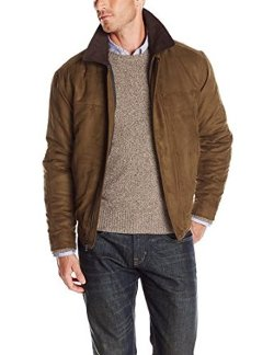 Men's Faux Suede Bomber Jacket by Weatherproof Garment Co. in Neighbors