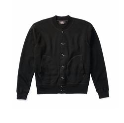 RRL Cotton Baseball Jacket by Ralph Lauren in Death Wish