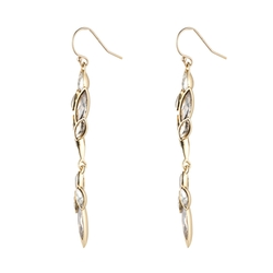 Gold Liquid Crystal Cluster Drop Earrings by Alexis Bittar in Arrow