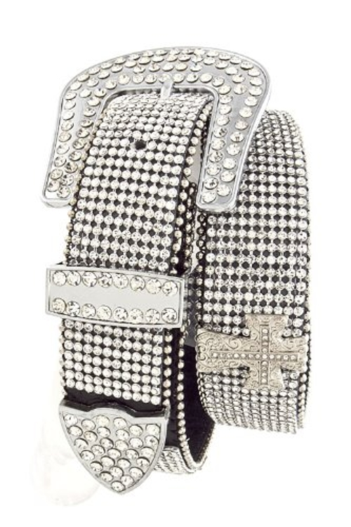 Rhinestone Encrusted Cross Belt by Fashion Destination in Magic Mike XXL