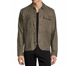 Leather Utility Shirt Jacket by Helmut Lang in Spider-Man: Homecoming