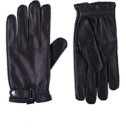 Snap-Tab Leather Gloves by Barneys New York in The Bourne Ultimatum