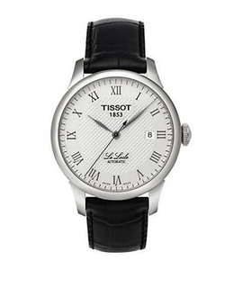 Men's Silvertone And Leather Watch by Tissot in The Flash