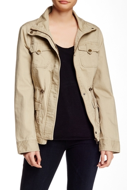 Slub Cotton Utility Jacket by Blanc Noir in Whiskey Tango Foxtrot