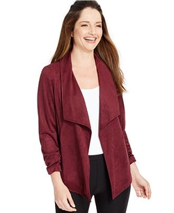 Faux-Suede Draped Cardigan by Alfani in Scream Queens