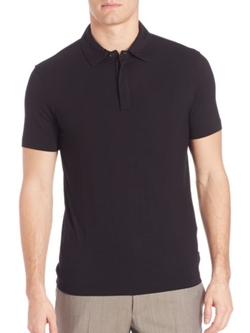 Solid Stretch Polo Shirt by Armani Collezioni  in Trainwreck
