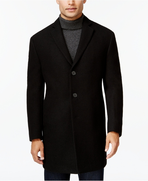 Melange Extra Slim-Fit Overcoat by Calvin Klein in The Twilight Saga: Breaking Dawn - Part 2