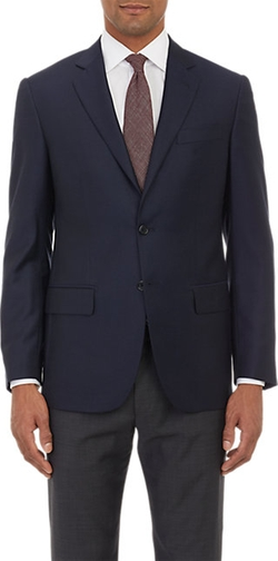 Hopsack Two-Button Sportcoat by Maurizio Baldassari in Rosewood