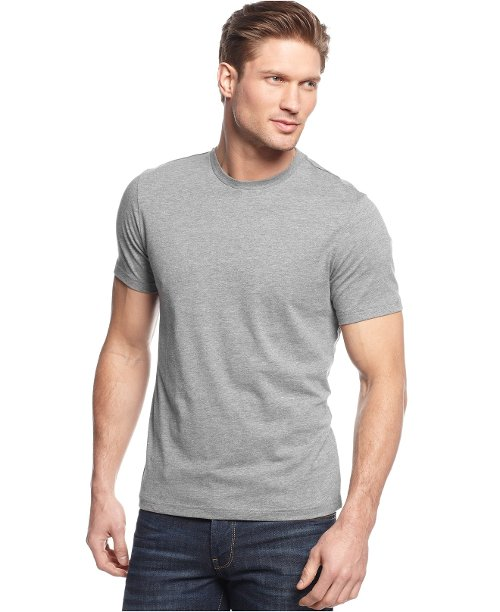 Slim-Fit Crewneck T-Shirt by Alfani Red in While We're Young