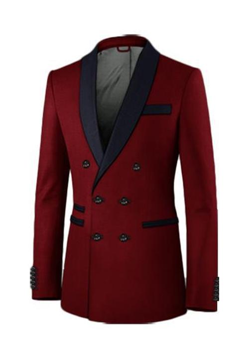 Red peaking lapel double breast suit by Aliexpress in Jersey Boys