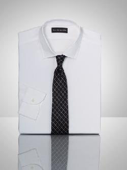 Tailored Solid Poplin Shirt by RALPH LAUREN BLACK LABEL in The Wolf of Wall Street