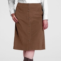 Button Front 21 Wale Corduroy Skirt by Lands' End in The Big Bang Theory